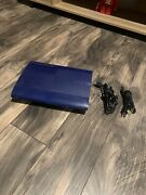 Sony Playstation 3 Ps3 Ps Super Slim 250gb Azurite Blue Console Dual Shock Rare