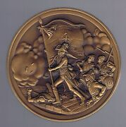 Napoleon High Relief Medal Italy Arcole Most Famous War Large 76 Mm Diameter Unc