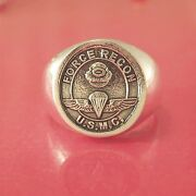Marine Usmc Force Recon Ring - Solid Sterling Silver
