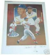 Stan Musial Autographed Lithograph St Louis By Christopher Paluso Artist Proof