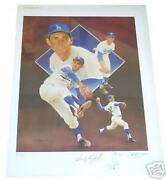 Sandy Koufax Autographed Lithograph Remarque Christopher Paluso Artist Proof