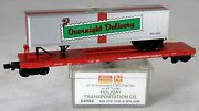 N Scale 57and039 6 Converted Tofc Flat Car W/trailer - Holiday Tranportation - Mtl