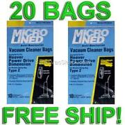 20 Bags For Hoover Upright And Windtunnel Vacuums Type Z