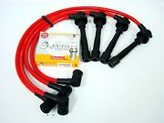 Vms 90-91 Acura Integra Spark Wires And Ngk Platinum G Power Plugs Combo Set Red