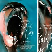 27wx39h Pink Floyd The Wall Official Movie Poster Barrett Gilmour Waters Canvas