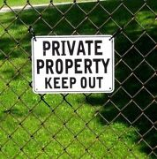 ''private Property Keep Out'' Signs, Metal 5 Sign Set