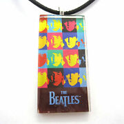 Andy Warhol's The Beatles Glass Pendant With Necklace