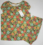 Nwt Girls Gymboree Monkey Outfit Size 8...cute And Sold Out