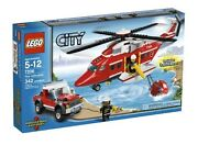 7206 Fire Helicopter City Town Lego New Sealed Set Legos Fighter Rescue Fireman