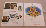 2 Magazine Ads For American Airlines And Curtiss-wright