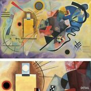 50wx32h Gelb Rot Blau By Vasily Kandinsky - Stylized Yellow Red Blue Canvas