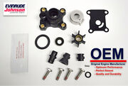 New Johnson Evinrude Oem Water Pump And Impeller Kit 394711 Brp/omc W Housing