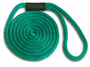 Teal 1/2 X 10and039 Solid Braid Dock Nylon Lines - Made In Usa