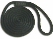 Black Nylon Dock Lines Rope 5/8 X 15and039 - Made In Usa