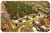 1950's Pc Alameda Mexico Town View Panoramic Aerial