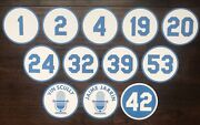Los Angeles Dodgers Stadium Retired Numbers Photo Poster Ticket Jersey Bat Ball