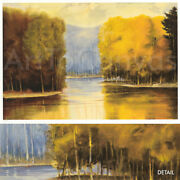 Image 42x28 Light Trees Water R. Striffolino Numbered 125/225 W/signature S/n