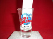 Planet Hollywood Tall Shot Glass Tel Aviv Foreign New Great For Your Bar Collect