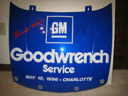 Rare Dale Earnhardt 1996 Autographed Goodwrench Hood