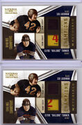2 Clyde Bulldog Turner Sid Luckman 09 National Treasures Laundry Tag Patch Lot
