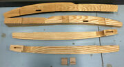 Ford 3 Window Coupe Upper And Rear Wood Door Jam Jamb Set Red Oak 32 1932