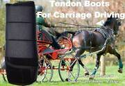 Horse Tendon Boots Black Miniature To Horse Size Ideal For Carriage Driving