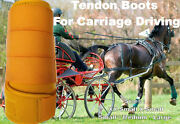 Horse Tendon Boots Yellow Miniature To Horse Size Ideal For Carriage Driving