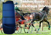 Horse Tendon Boots Navy Miniature To Horse Size Ideal For Carriage Driving