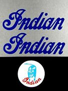 Blue Indian Mini Mm5a M5a Tank Decal And Mag Cover Decal Set 50cc 50 Early Model