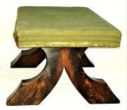 Ottoman, Footstool, Gothic, Empire, Mahogany, Flared/tapered Foot, C1840, 20l