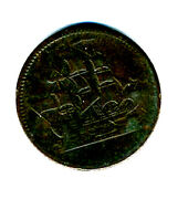 Rare 19th Century Canadian Token Ship And Slogan Ships Colonies And Commerce