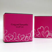 100 Modern Hearts Printed Favor Boxes Wedding Favors