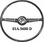 Ford 194040 Deluxe Stock 17 Wheel Also Fits Original And03932-and03948 Fords
