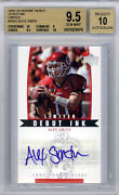 Alex Smith 05 Ud Rookie Debut Limited Auto Rookie Short Print Bgs Gem 9.5 Only 1
