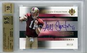 Alex Smith 05 Ultimate Collection Gold Auto Rookie Sp /10 Bgs Gem Mint 9.5 49ers
