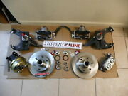 Mcgaughys 1967 70 Chevy Drop Spindles With Power Disc Brake Conversion Booster 7