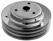 Small Block Chevy Chrome Steel Crank Pulley Long Triple Groove Chevy Lower