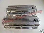 Nostalgic Big Block Chevy Polished Aluminum Tall Valve Covers 396 427 502 Finned