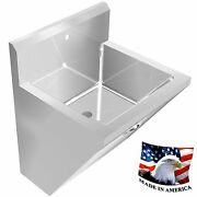 Surgeonand039s Chassis Hand Sink 1 Station Sink Only 24 Stainless Steel Hands Free