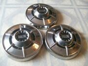 3 Old Ford Falcon Dogdish Hubcaps Rat/rod