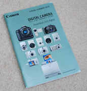 Canon Digital Camera Full Line Product Guide Covers 32 Models - New -