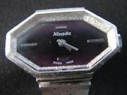 Vintage Ladyand039s Nivada Watch Wristwatch Working Swiss Made Stainless Steel Back