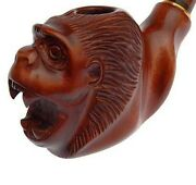First Class New Wooden Hand Carved Handmade Smoking Pipe Monkey For 9 Mm