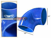 Blue Elbow 3.5 89mm 4-ply Silicone Coupler Hose Turbo Intake Intercooler Chev2