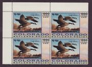 Co1gc Colorado State Duck Stamp Governor Ed. Contingency Plate  Co1gcb0 Dss