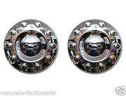 Oem New 2005-2016 Ford F-450 F-550 Front 19.5 Wheel 2wd Chrome Center Cap Pair