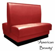 Restaurant Booth Double American Beauty Red Custom Color Retro Red Diner Booth