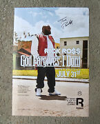God Forgives I Dont Rick Ross Signed Autographed Poster Proof Maybach Music
