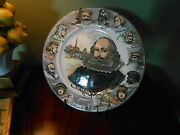 Royal Doulton Shakespeare Collectors Plate Sweet Swan Of Avon D6303 England