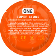 One Super Studs Textured Bulk Condoms - Choose Quantity